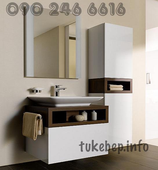 tủ lavabo gỗ 023