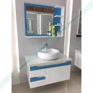 Mẫu tủ lavabo gỗ nhựa picomat 161 đẹp sang sơn bóng 2k