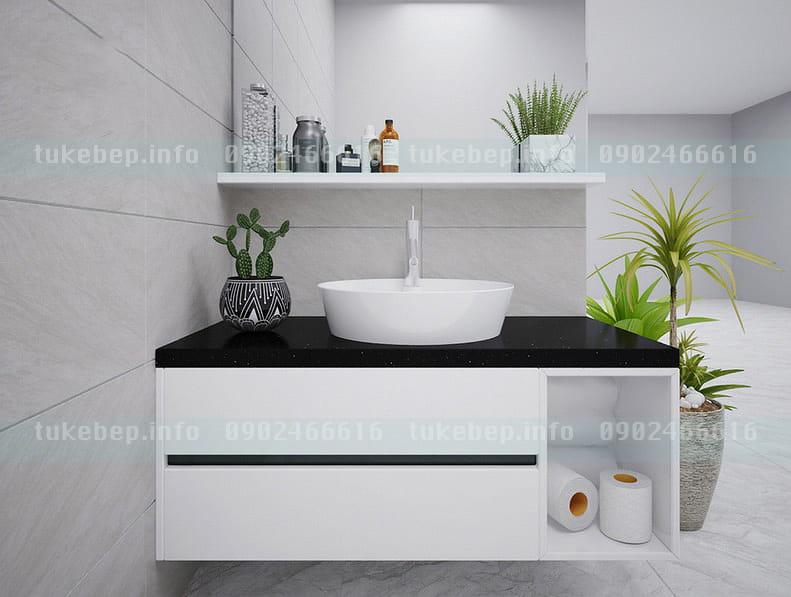Mẫu tủ lavabo nhựa picomat 163 hiện đại sang đẹp