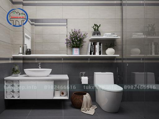 Mẫu tủ lavabo nhựa picomat 164 trắng sang trọng