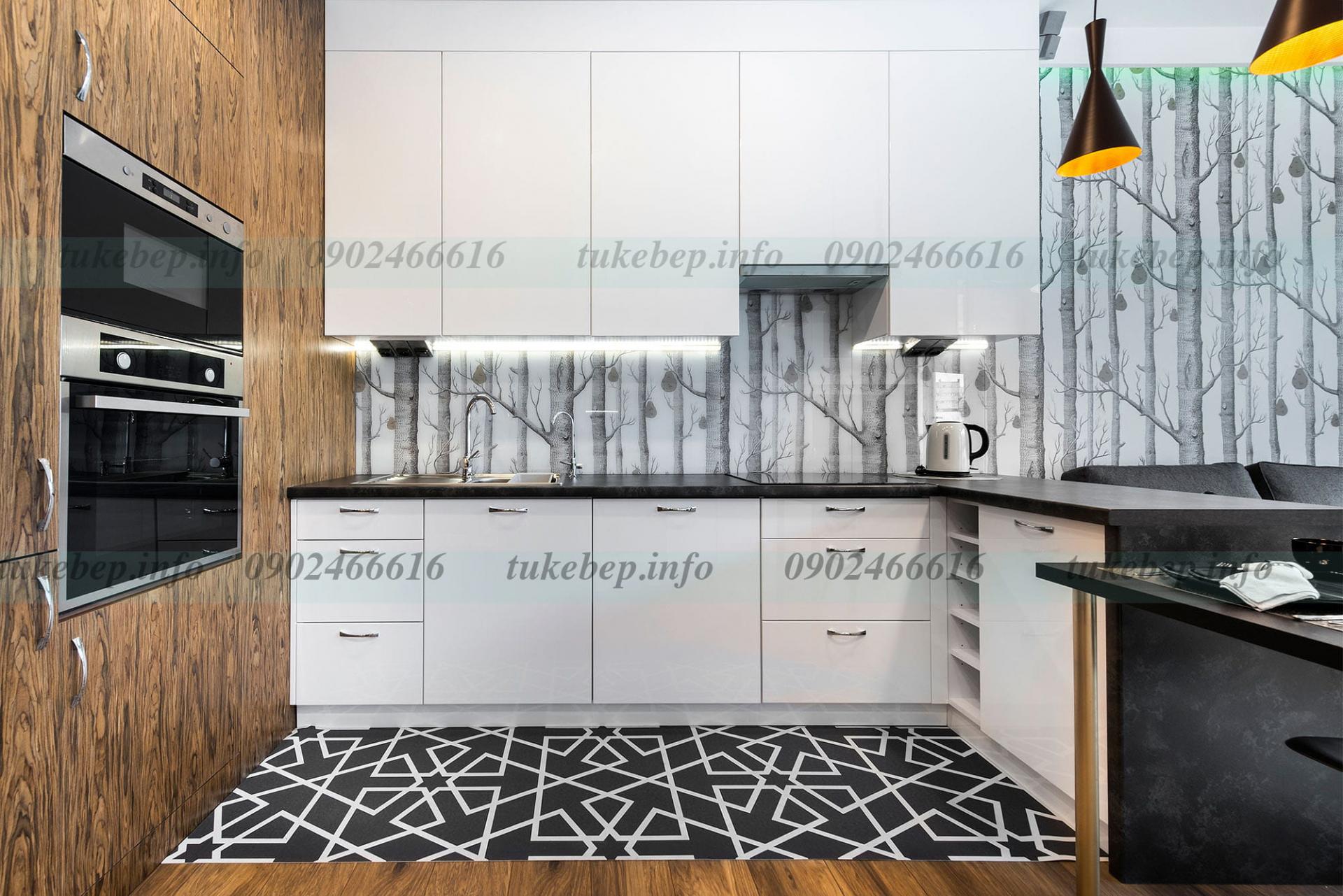 Tủ bếp 217 đẹp, sang theo phong cách hiện đại