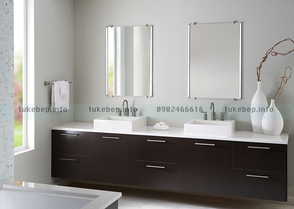 Mẫu tủ lavabo 165 sử dụng ván nhựa cao cấp
