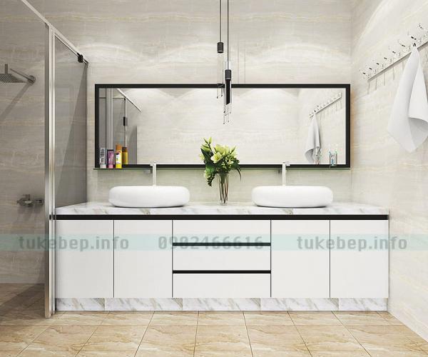 Mẫu tủ lavabo 166 dạng lavabo đôi đẹp sang
